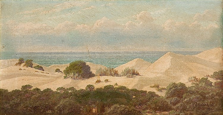Jan Ernst Abraham Volschenk - Sand Hills and Sea (Stillbaai)