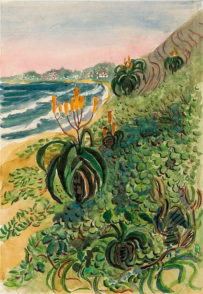 Edith Luise Mary King - Beach Aloes and Dunes (South Coast, Natal)