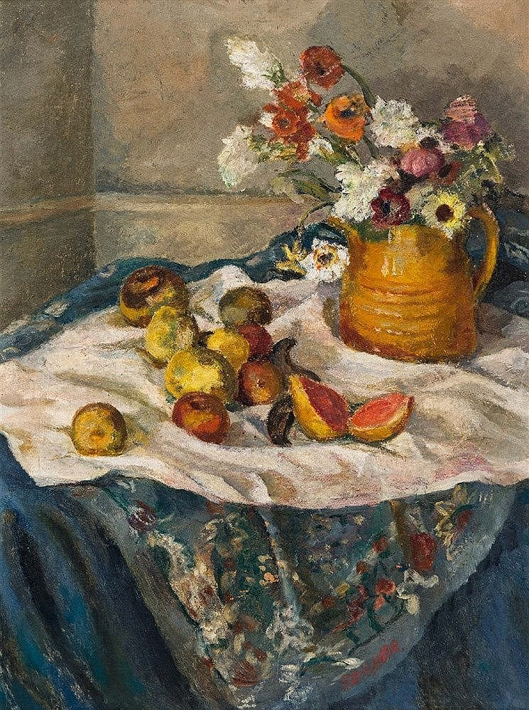 Maud Frances Eyston Sumner - Still Life with Fruit