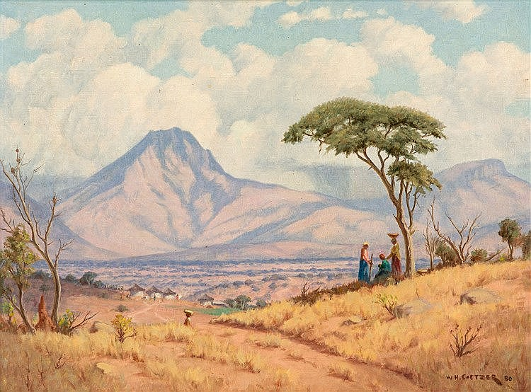 Willem Hermanus Coetzer - Drakensberg, vanaf-from Lowveld