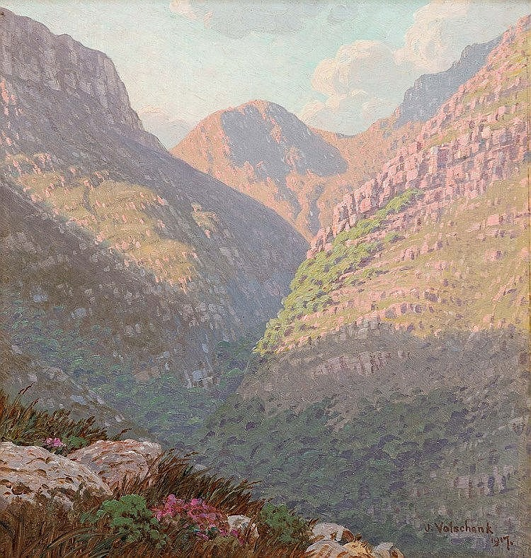 Jan Ernst Abraham Volschenk - A Mountain Kloof, South Africa