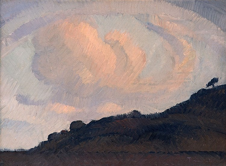 Jacob Hendrik Pierneef - Landscape with Clouds