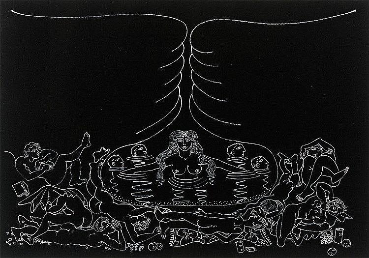 Walter Whall Battiss - Bathing Figures