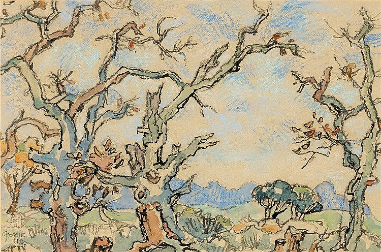 Gregoire Johannes Boonzaier - Blossoming Trees