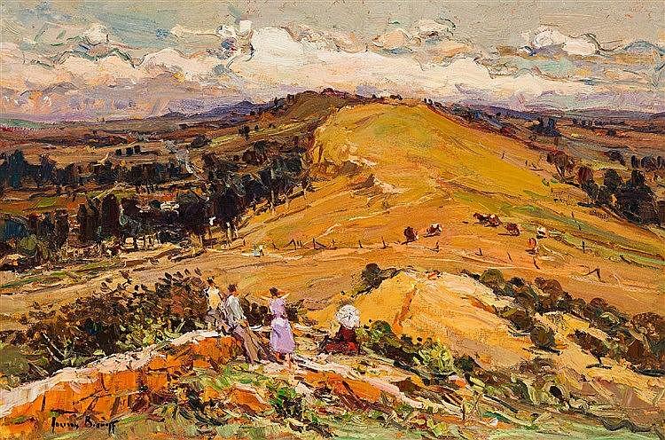 Adriaan Hendrik Boshoff - Landscape with Figures