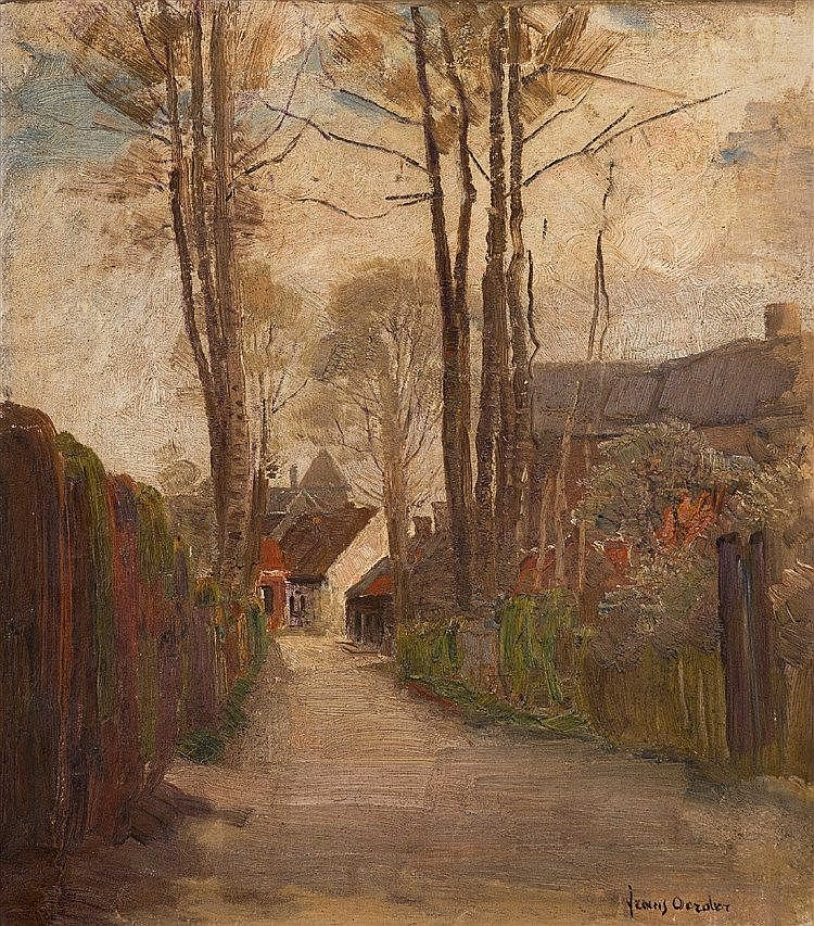 Frans David Oerder - A Village Lane
