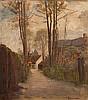 Frans David Oerder - A Village Lane, Frans David Oerder, R0