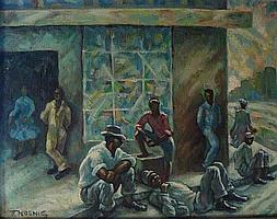 Dezso Koenig South African 1902-1972 Awaiting Work