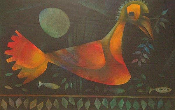 Winston Saoli South African 1950-1995 A Bird