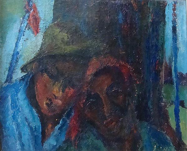 Cecil Higgs South African 1900-1986 Friends