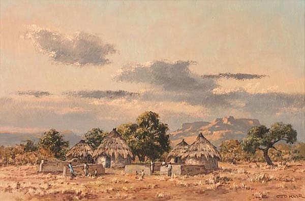 Otto Klar South African 1908-1994 A Rural Village