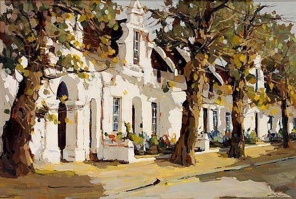 Gian-Piero Garizio Street Scene, Stellenbosch