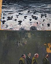 Johann Louw - Suited Men and Landscape