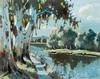 Sydney Carter Trees and lake, Sydney Carter, R0