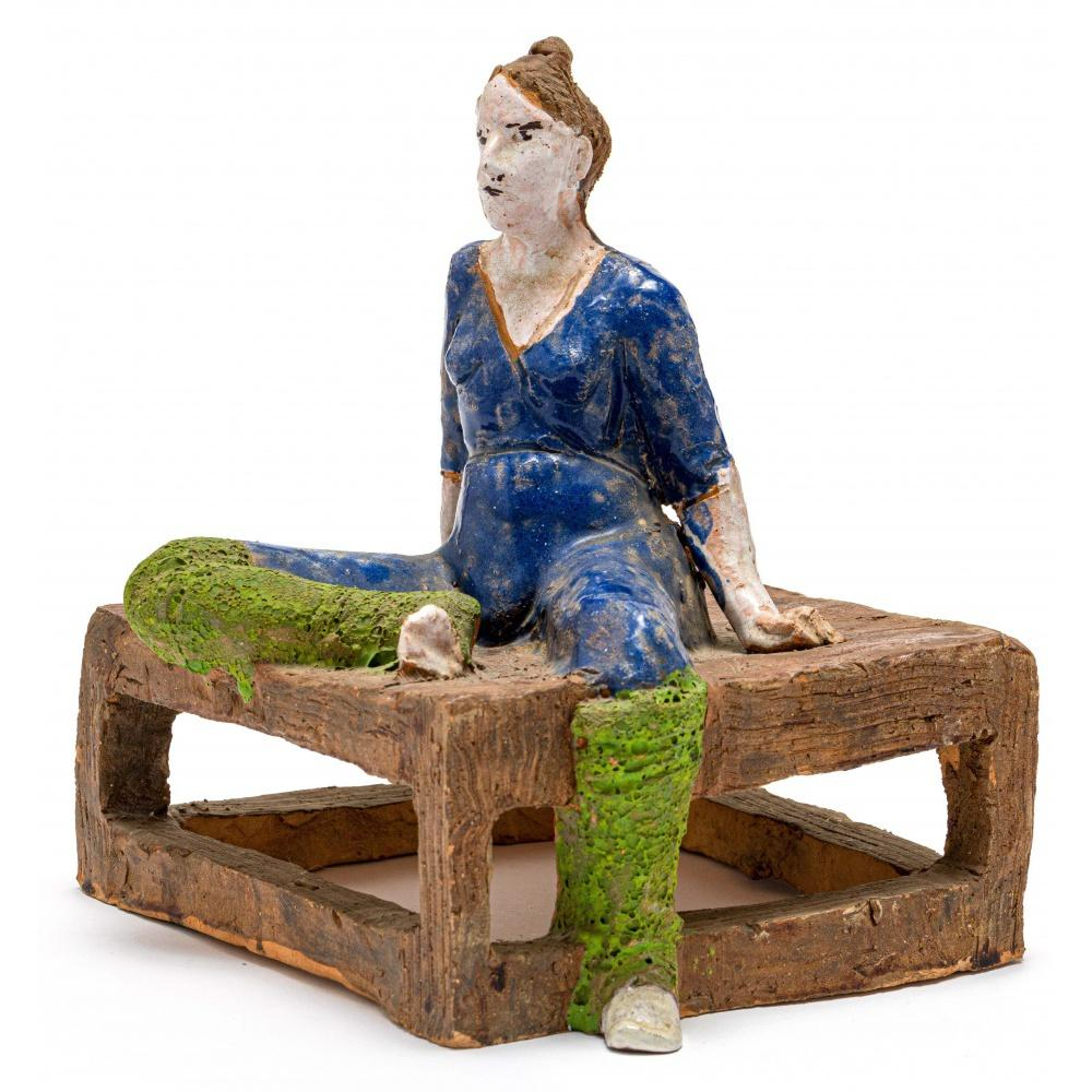 Hylton Nel; South African 1941-; Seated Woman