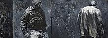 Johann Louw - Two Men Against Wall