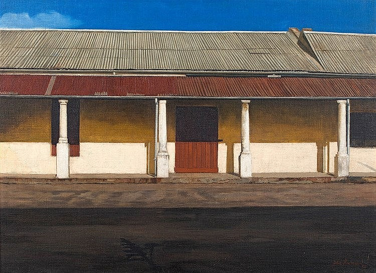 John Barnett Kramer  Stoep, Middelburg, Eastern Cape  signed and dated 83  oil on canvas