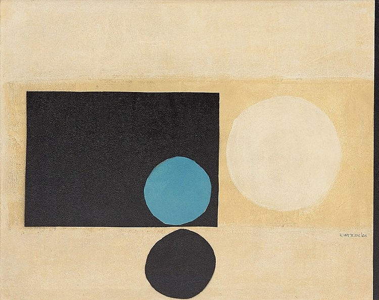 Ernst de Jong Abstract Composition with Circles