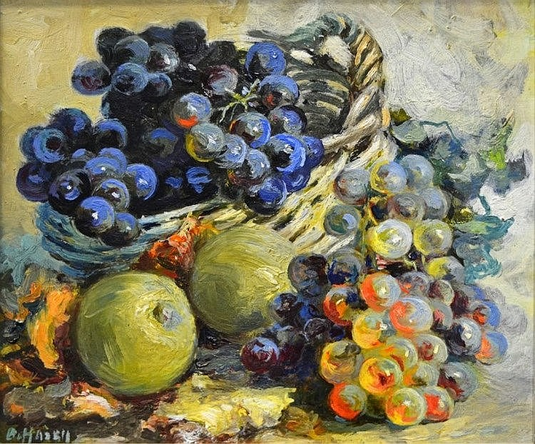 Amy Beatrice Hazell Still Life with Grapes and Apples