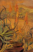 Edith Luise Mary King Aloes in a Rocky Landscape