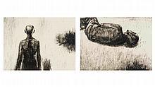 Johann Louw; Large Lying Figure; Standing Figure (Large, from Back)