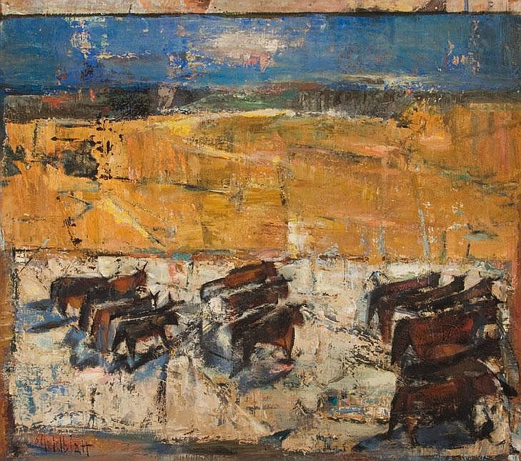 Sidney GOLDBLATT South African 1919-1979 A Herd of