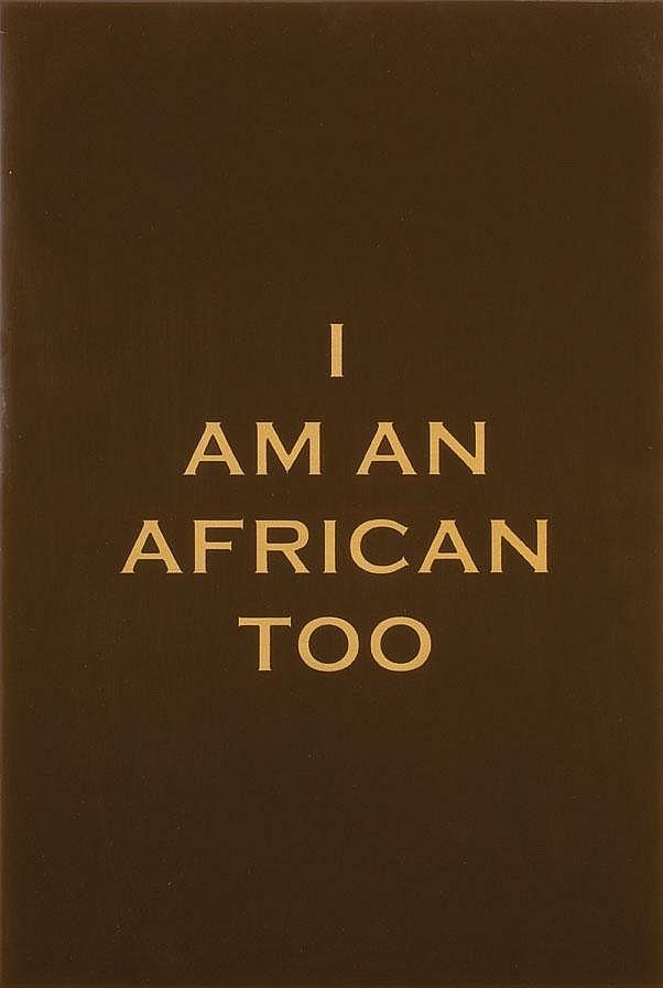 Brett MURRAY South African 1961- I am an African
