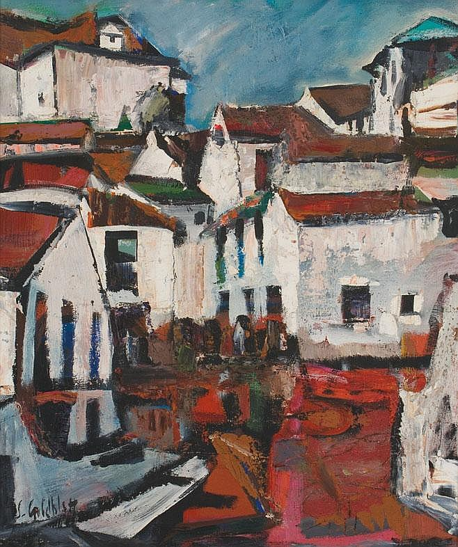Sidney GOLDBLATT South African 1919-1979 A Village