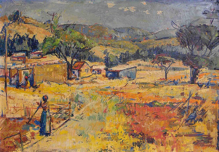 Zacharias ELOFF South African 1925-2004 Rural Farm