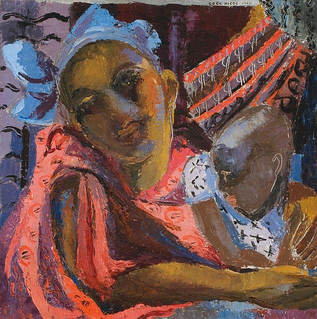Cecil HIGGS South African 1900-1986 Mother and