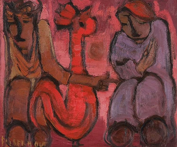 Frans Martin CLAERHOUT South African 1919-2006 Two