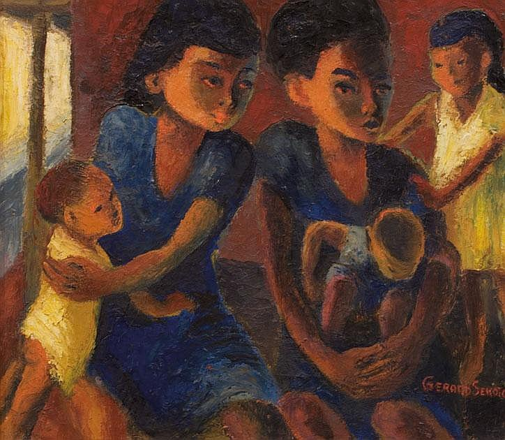 Gerard SEKOTO South African 1913-1993 Mothers and