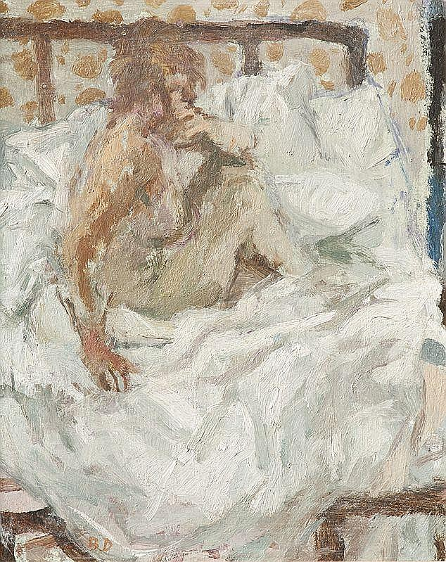 Bernard DUNSTAN British 1920- Nude Seated on Bed