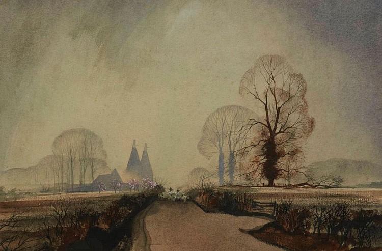 Rowland Hilder BRITISH 1905-1993 Springtime in