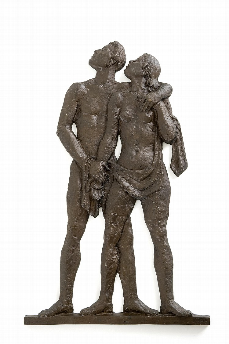 Moses Kottler SOUTH AFRICAN 1892-1977 Maquette for