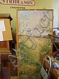 A large oil of rural landscape by Jeanne