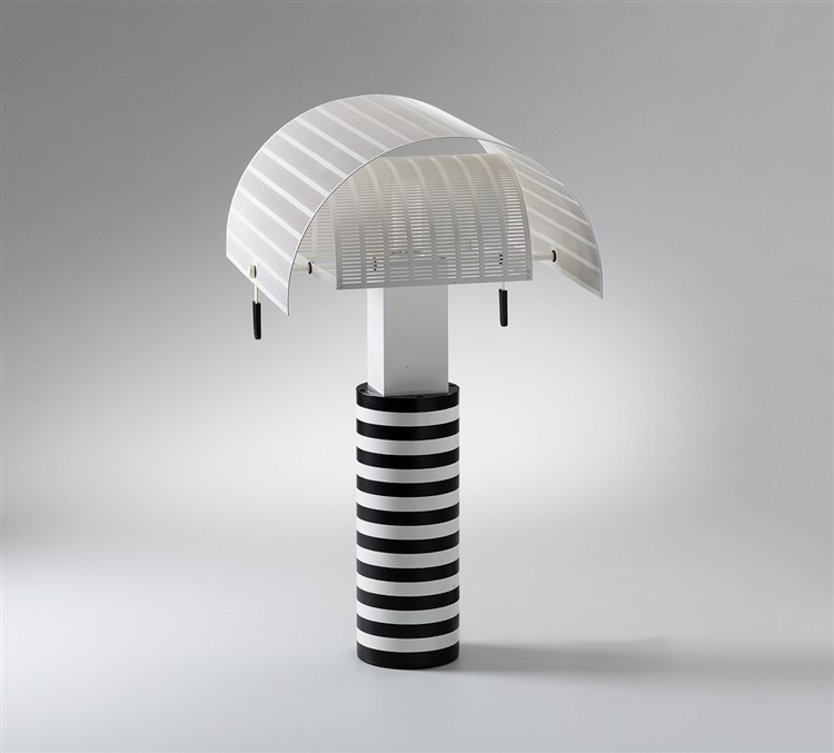tischlampe shogun mario botta artemide 1985 h 65 cm. Black Bedroom Furniture Sets. Home Design Ideas