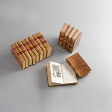 Rousseau, Jean Jacques, Œuvres complètes.  21 Bände. Paris, Perronneau, 1818-1820. Ganzlederbände der Zeit mit Rückenvergoldung und zwei roten Rückenschildchen.