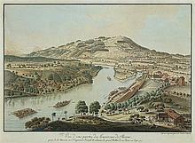 Schiel, Johann Niklaus (1751-1803). «Vue d'une partie des Environs de Berne prise de la Maison ou l'empereur Joseph II a honoré le grand Haller de la Visite en Sept. 1777». Schifffahrt auf...