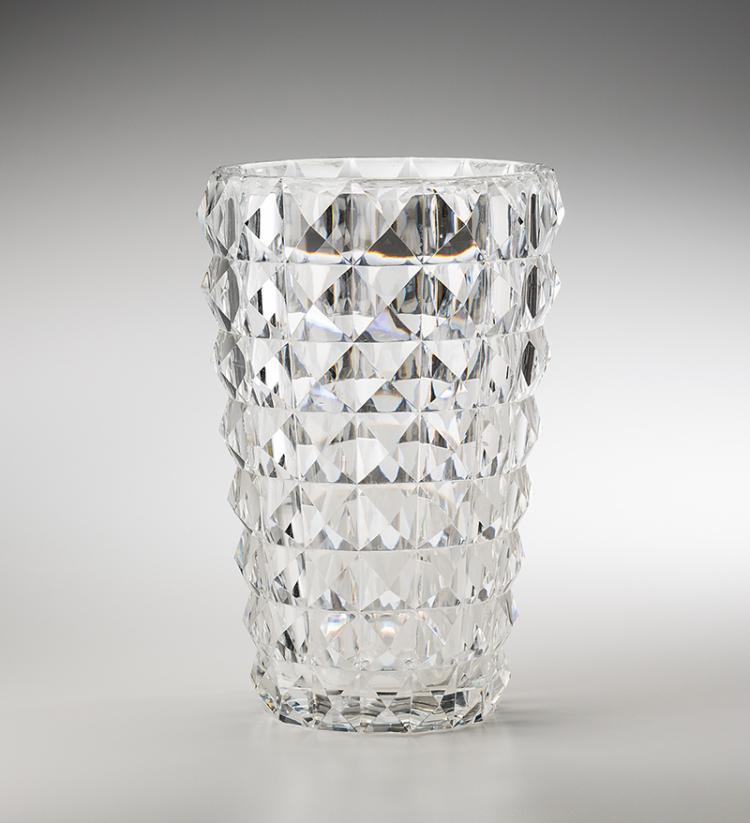 grosse vase val st lambert belgien um 1950 blei kristal. Black Bedroom Furniture Sets. Home Design Ideas