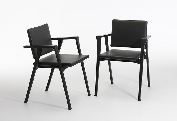 ein paar armlehnst hle luisa entwurf franco albini herstel. Black Bedroom Furniture Sets. Home Design Ideas