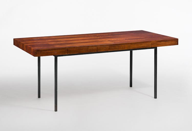 schreibtisch frankreich um 1960 pali sander l ngsrechtec. Black Bedroom Furniture Sets. Home Design Ideas
