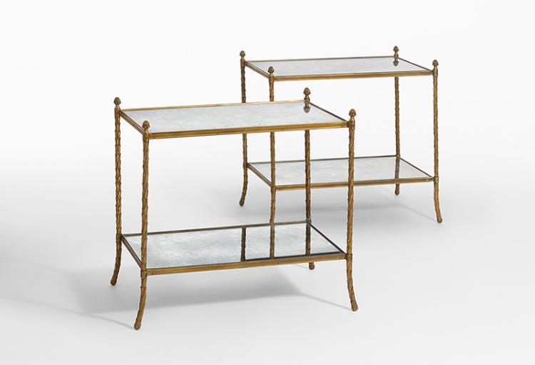 ein paar beistelltische maison bagues zuzuschreiben paris. Black Bedroom Furniture Sets. Home Design Ideas