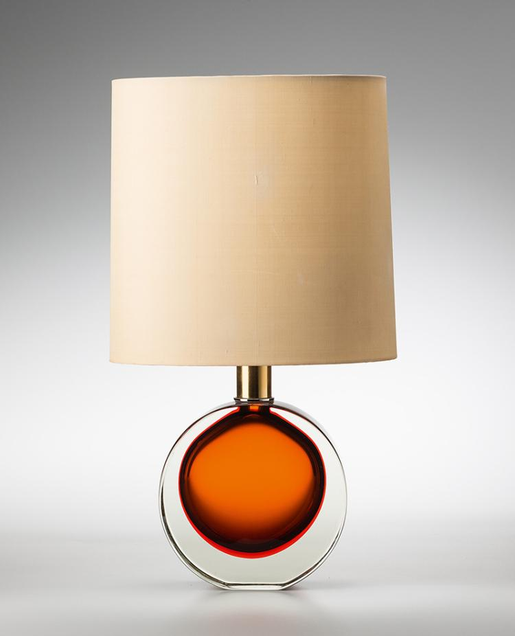 tischlampe murano wohl seguso um 1960 glas messing ve. Black Bedroom Furniture Sets. Home Design Ideas