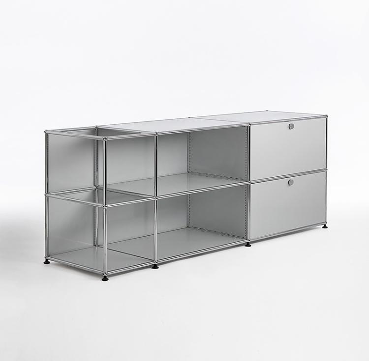 regalm bel sideboard usm haller stahlrohr verchromt mit. Black Bedroom Furniture Sets. Home Design Ideas