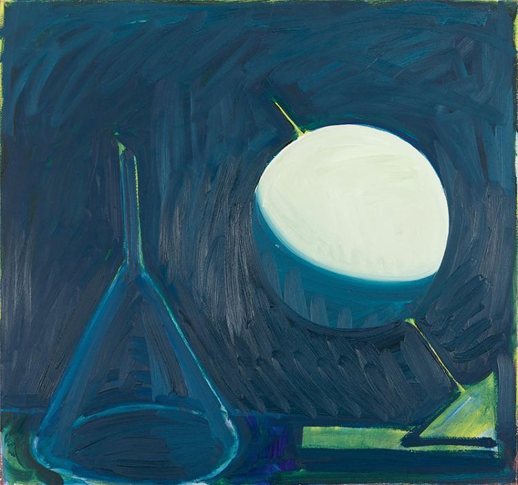 Fivian, Bendicht (geb. 1940). Ohne Titel, 1996. Öl auf Leinwand. Verso signiert und datiert.   80:85 cm.