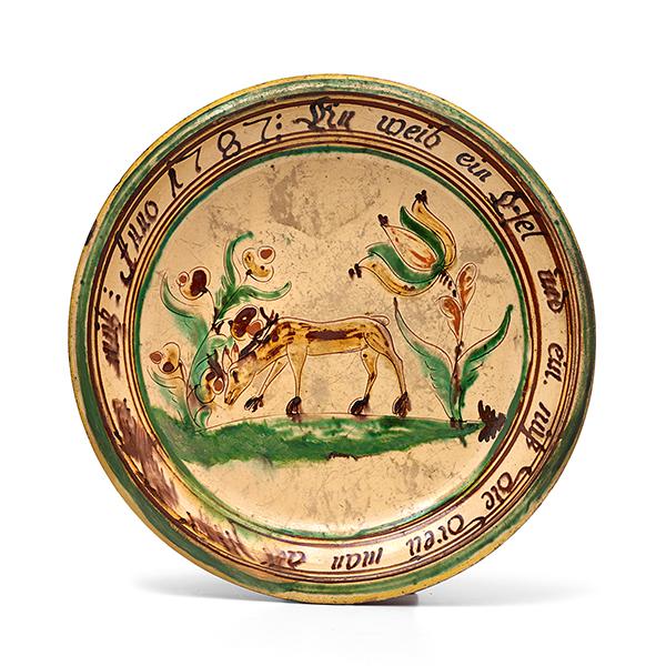 Platte wohl heimberg datiert 1787 flache ausformung mit s for Spiegel und fahne