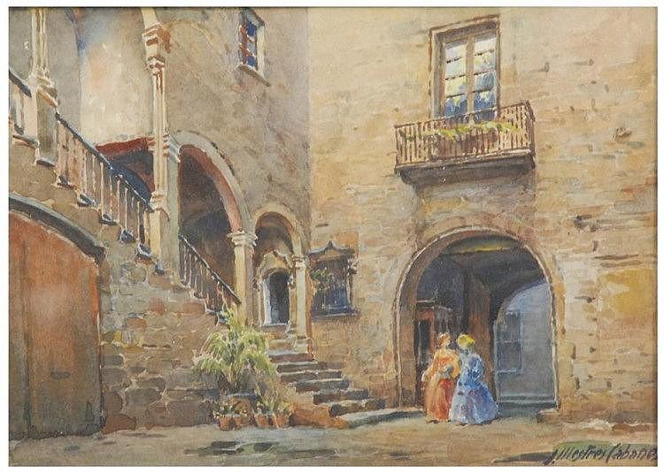 J. MESTRES CABANES (1898-1990) Acuarela sobre