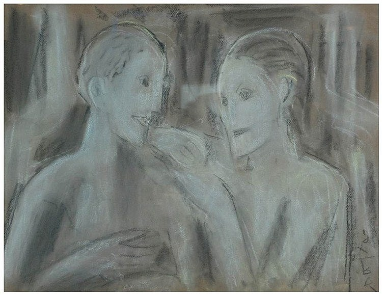 PERE GASTÓ (1909-1997) pastel sobre papel. Med.: