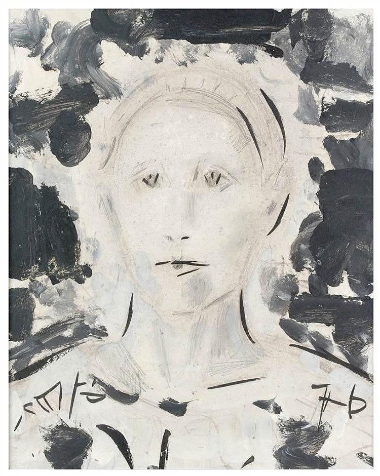PERE GASTO (1909-1997) técnica mixta sobre lienzo.